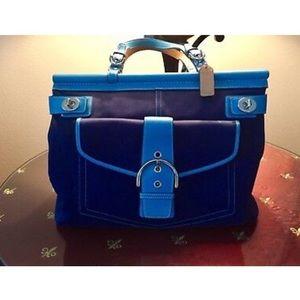 Coach Large Canvas Turnstyle Handbag & Wristlet